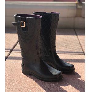 Sperry Black Rain Boots